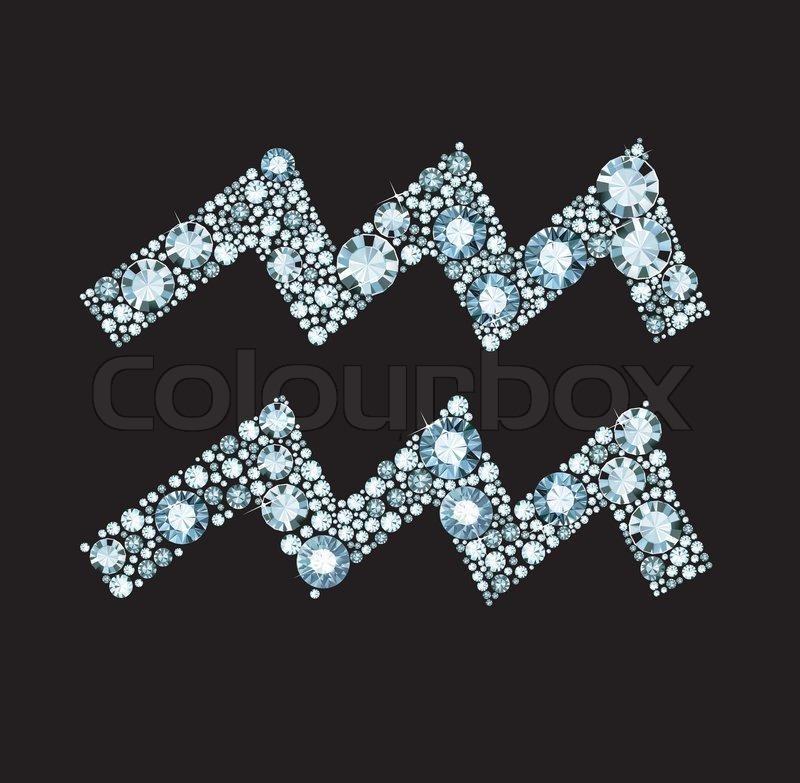 Diamond Aquarius Symbol Stock Vector Colourbox