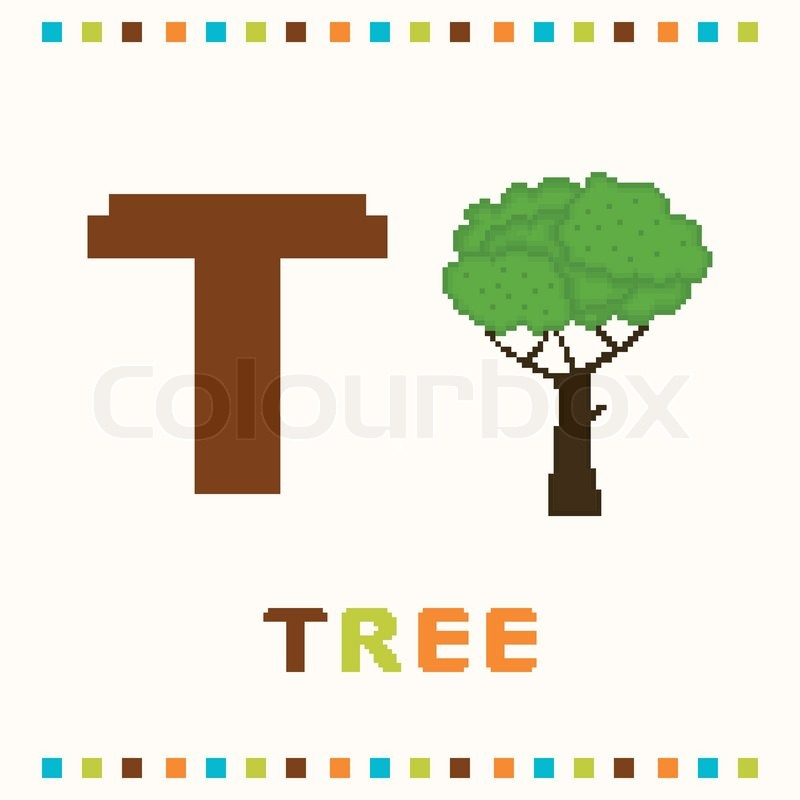 Alphabet For Children Letter T And A Stock Vector Colourbox