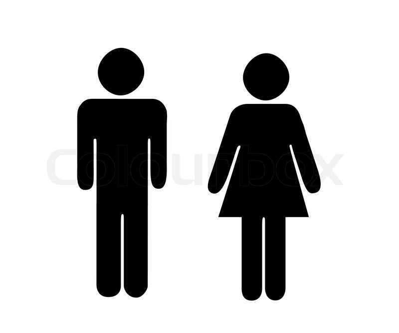 pictogram black woman and man stock vector colourbox rh colourbox com man vector psd man vector free