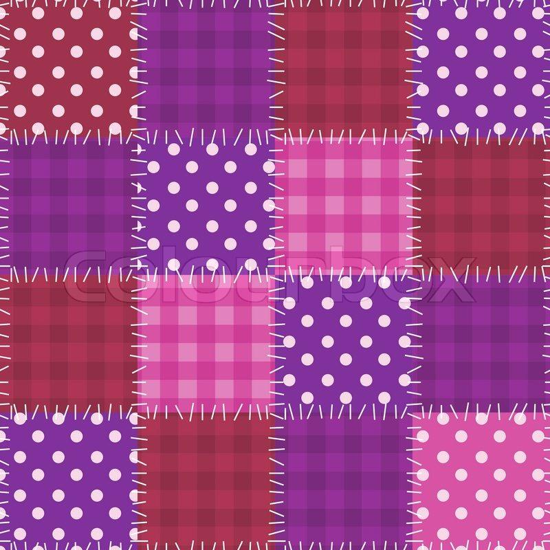 nahtlose rosa patchwork muster vektorgrafik colourbox. Black Bedroom Furniture Sets. Home Design Ideas