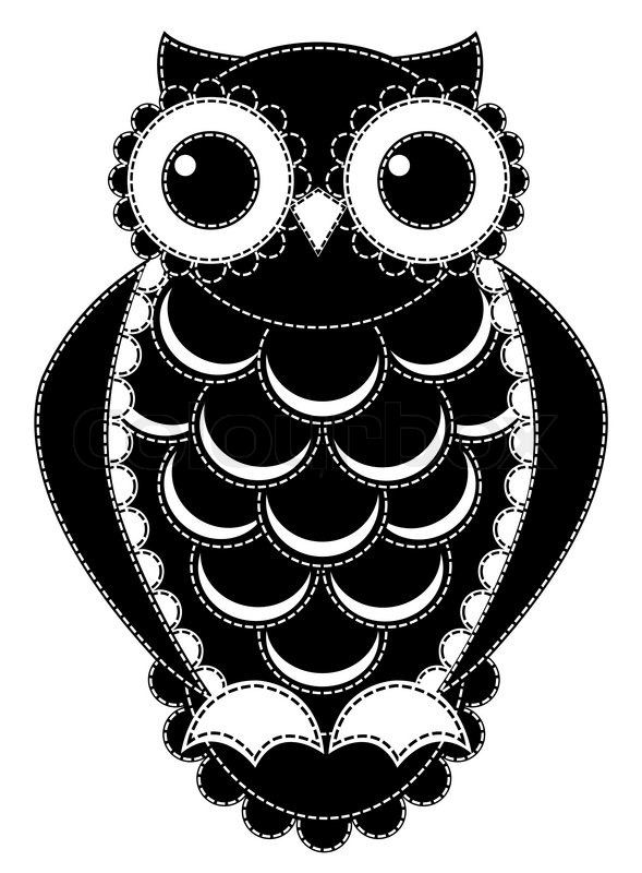 Owl Head Silhouette Vector Silhouette patchwork o...