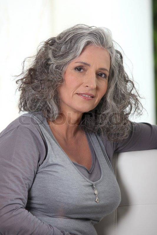 Grey-Haired Retired Woman Has A Lot Of   Stock Image -2994