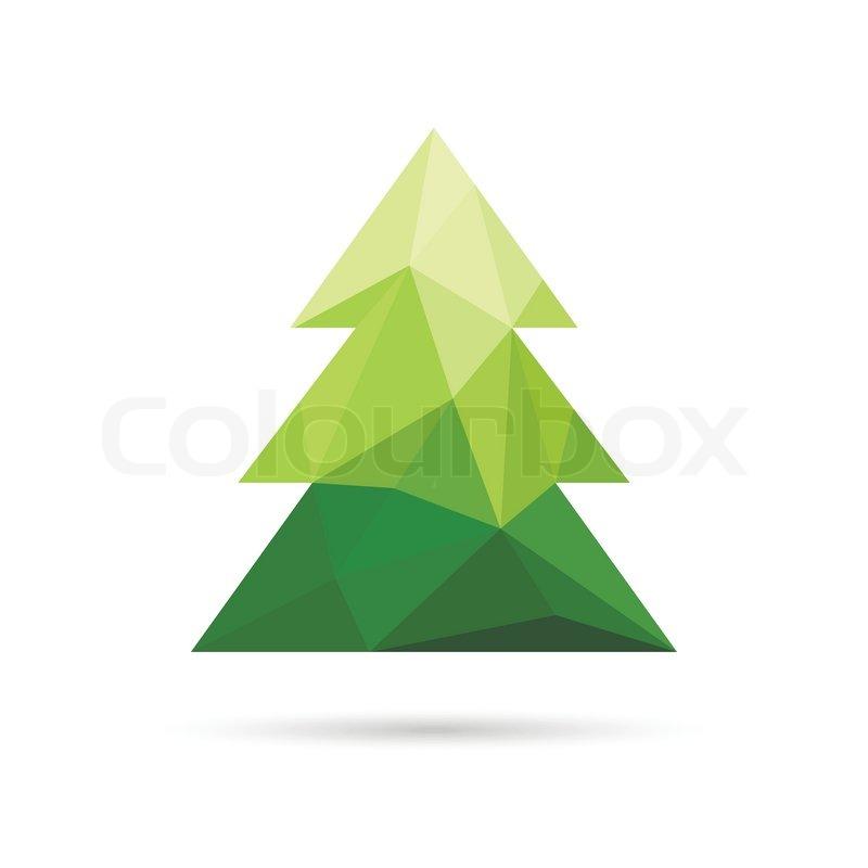 abstrakter weihnachtsbaum gemacht von dreiecken. Black Bedroom Furniture Sets. Home Design Ideas