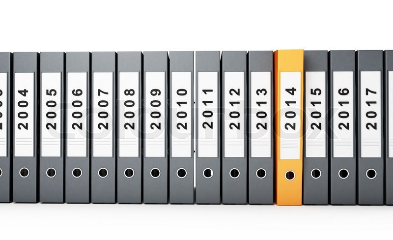Office folders, binder new year 2014 on a white background | Stock ...