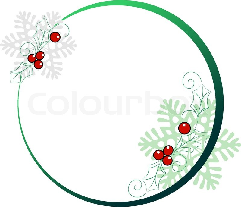 Round frame for Christmas cards | Stock Vector | Colourbox