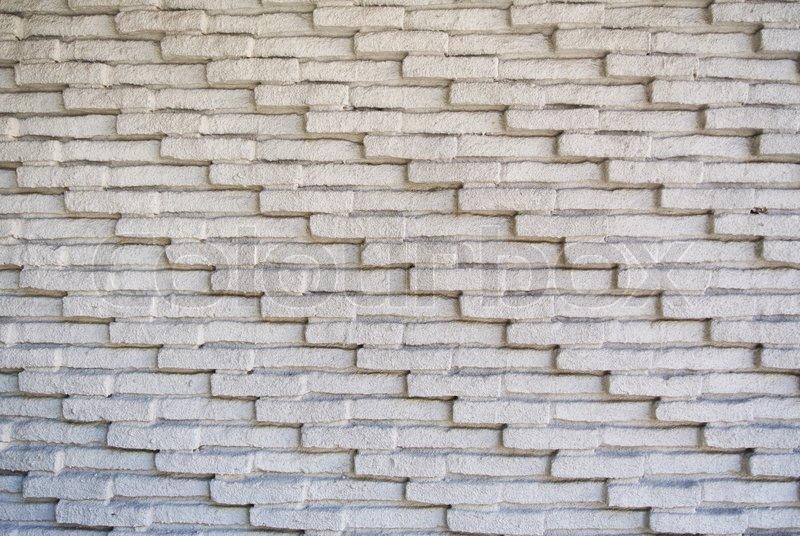 White brick texture wall background, stock photo