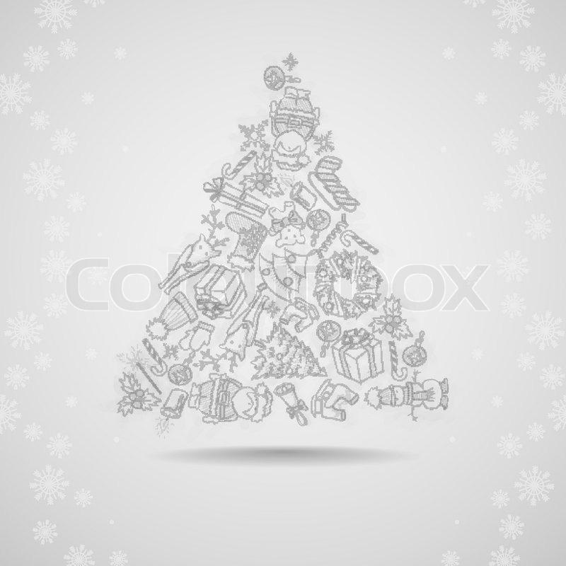 Weihnachten und Neujahr Symbole Vector Illustration Eps 10 ...