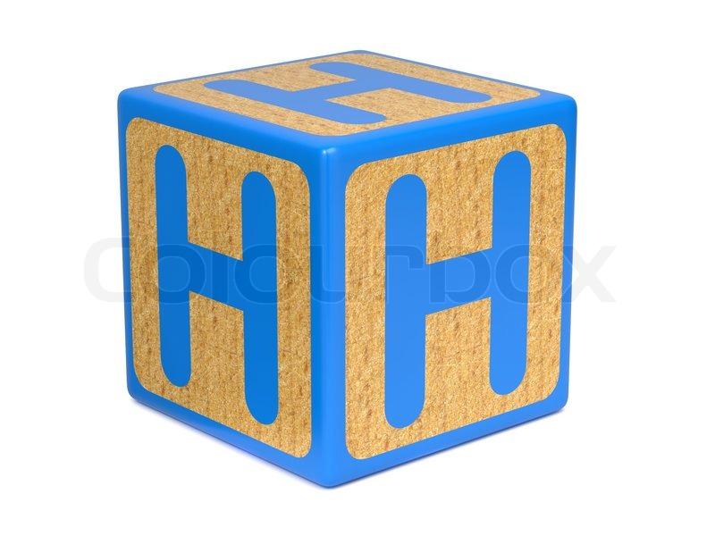Letter H on Childrens Alphabet Block | Stock Photo | Colourbox