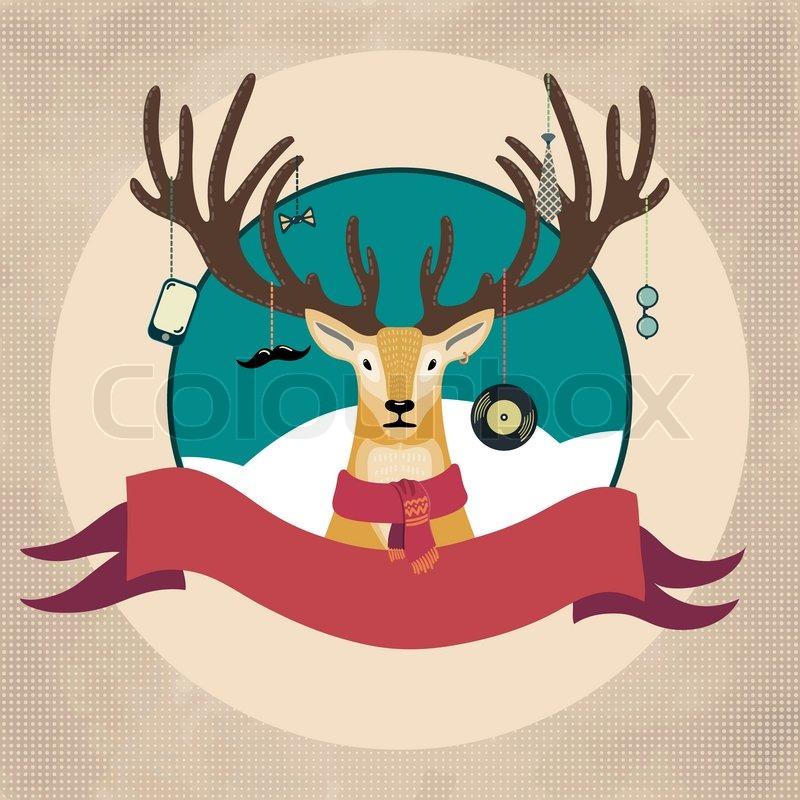 62d2ffc64ff Hand Drawn Vector Illustration of Deer ...