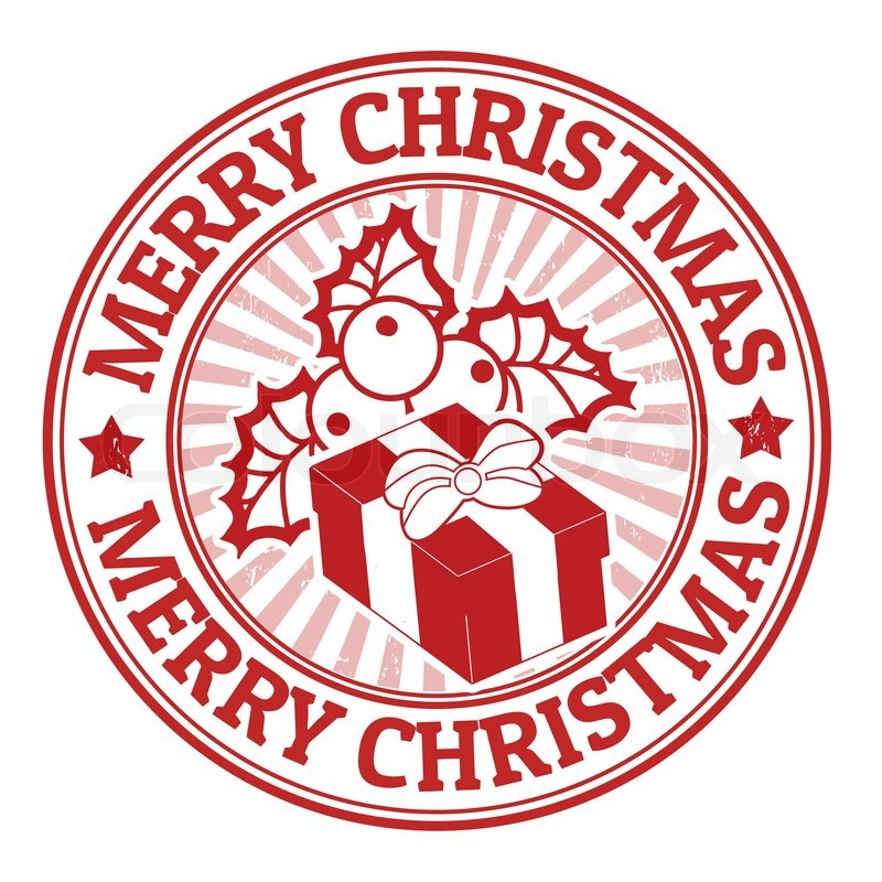 Merry Christmas Stamp Stock Vector Colourbox