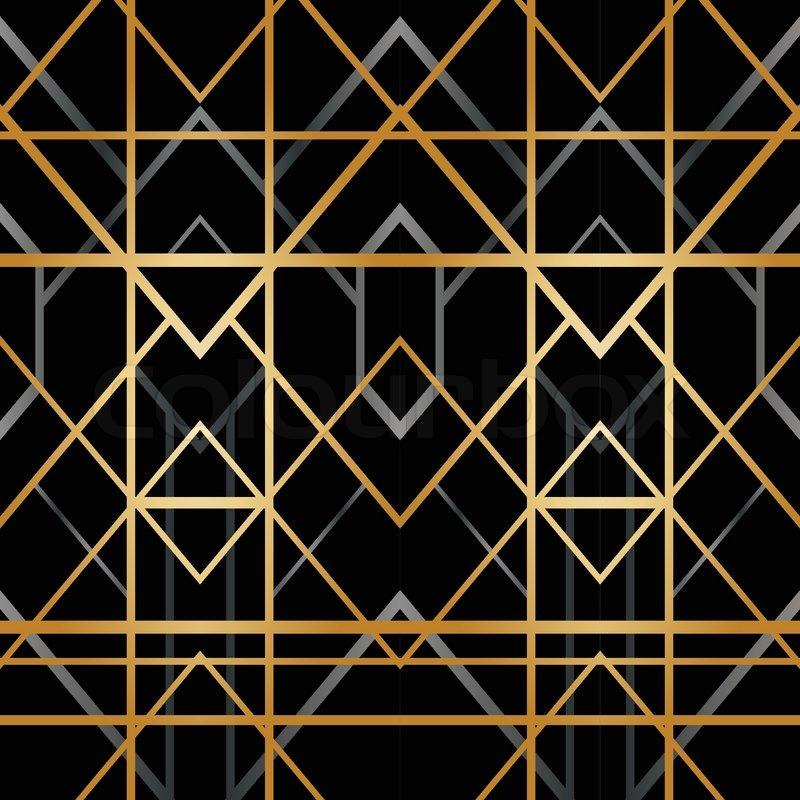 Art deco geometric pattern (1920\'s style) | Stock Vector | Colourbox