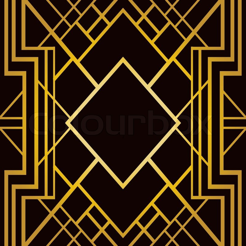art deco geometric pattern 1920 s style stock vector colourbox rh colourbox com Art Deco Design Elements free art deco design patterns