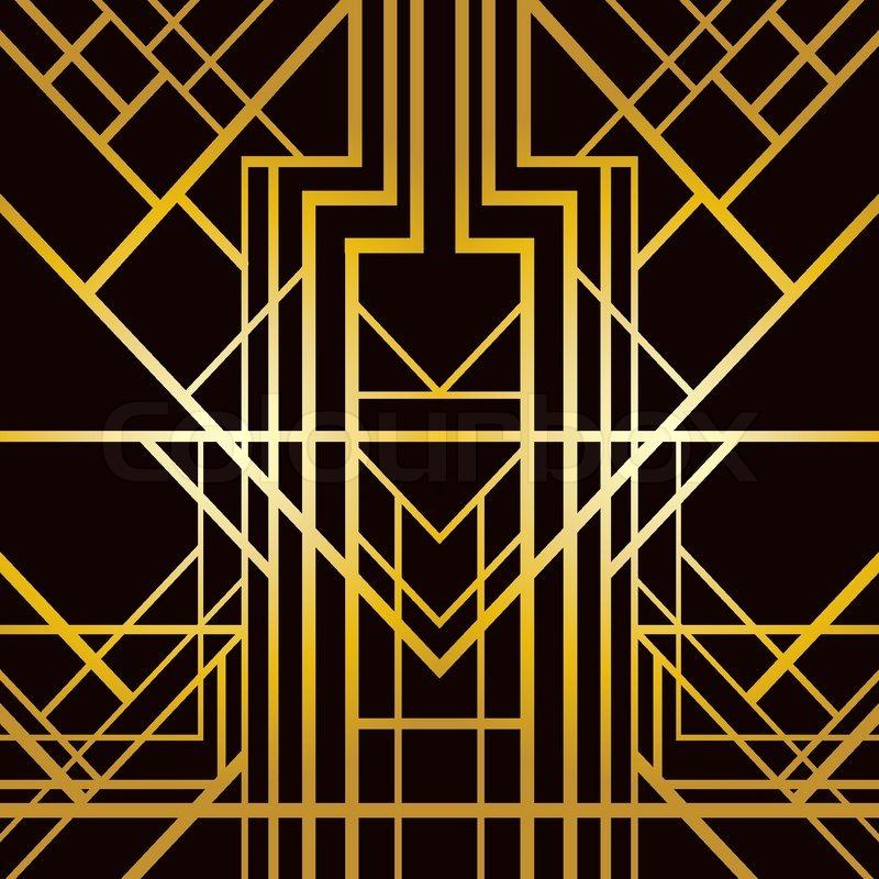 Art deco geometric pattern 1920 s style stock vector colourbox - Art Deco Geometric Pattern 1920 S Style Stock Vector