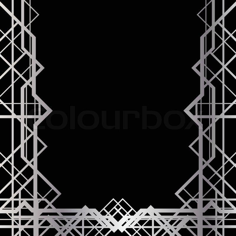 Art Deco Geometric Frame 1920s Stock Vector Colourbox