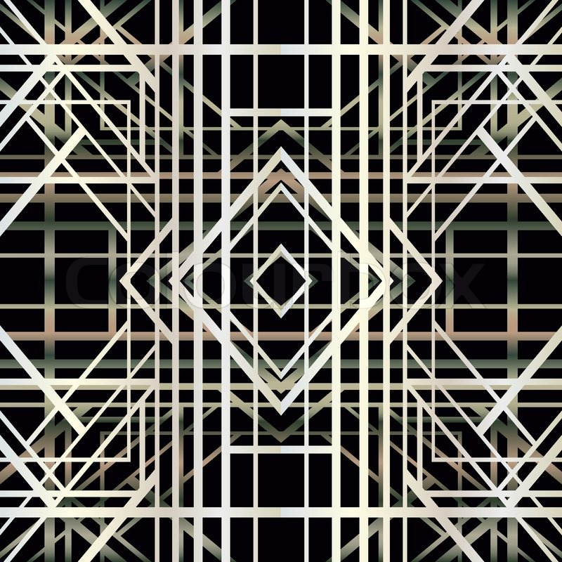 Art Deco Geometric Pattern 1920s Style Vector