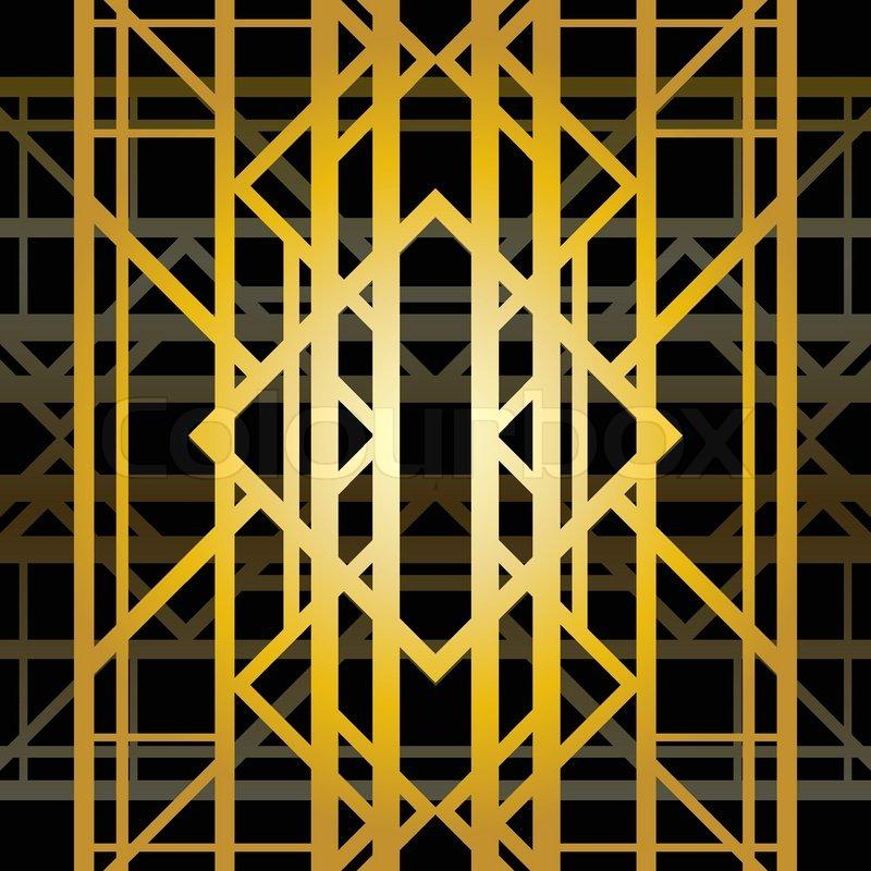 Art deco background geometric