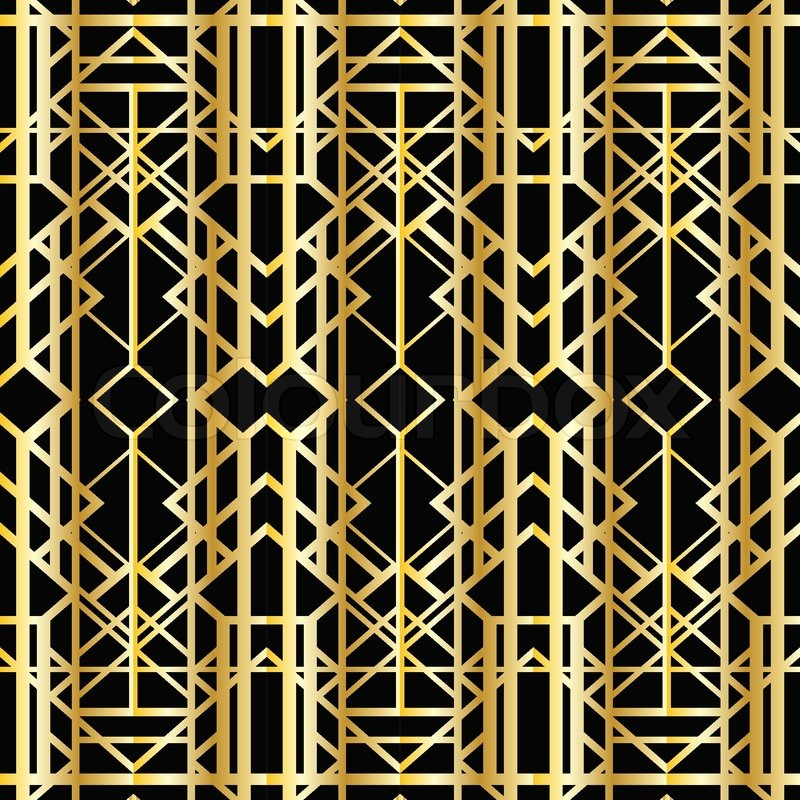 Art Deco Geometric Pattern 1920s Style Stock Vector