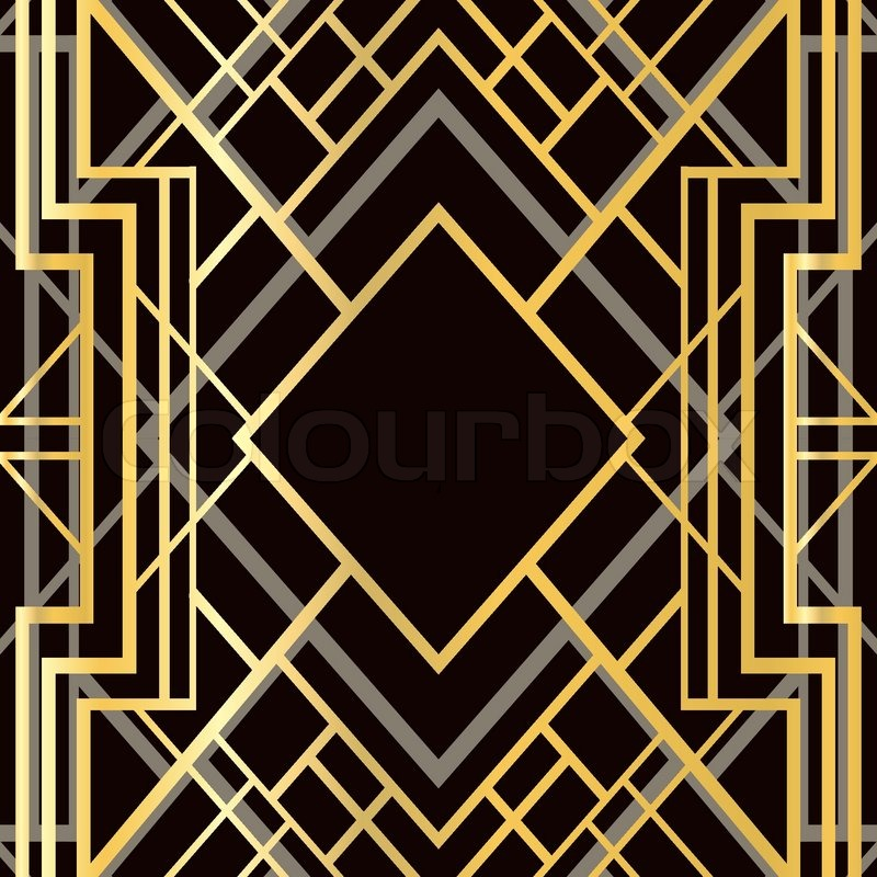 Art deco geometric frame 1920 39 s style stock vector for Art deco patterns