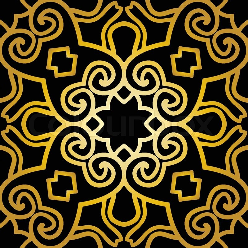 Seamless Pattern With Abstract In Art Deco Style