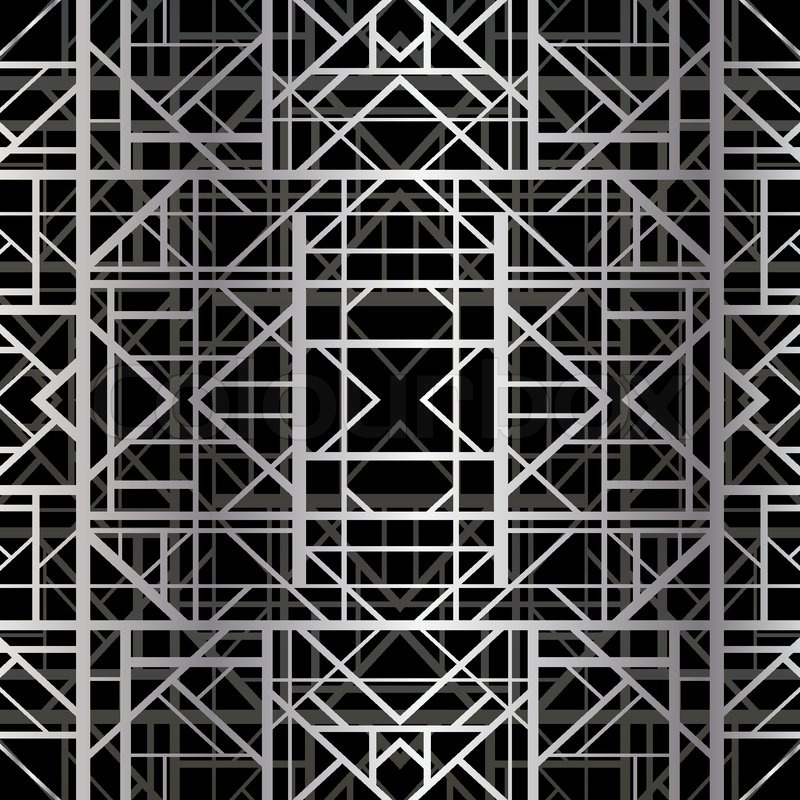 Art deco geometric pattern us style vector