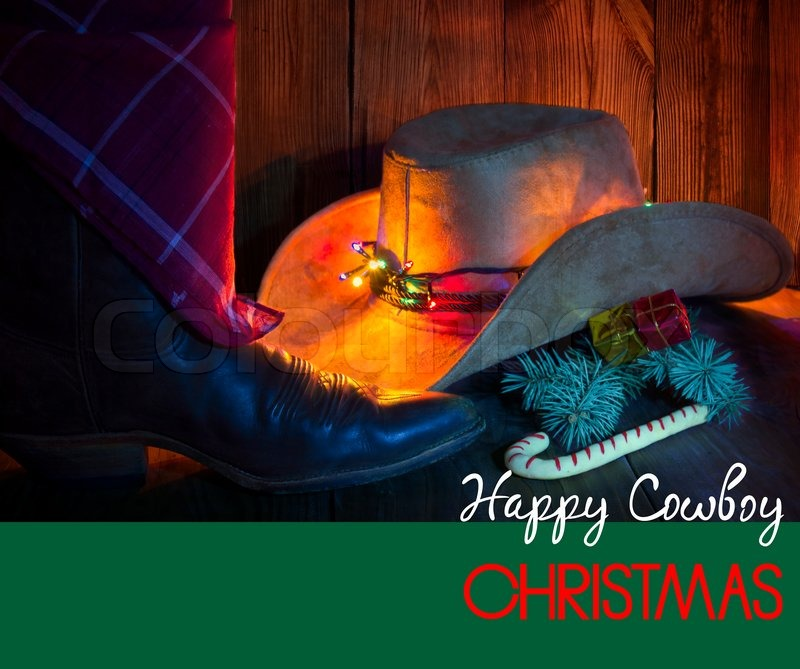 Cowboy Christmas Card With Holiday ...