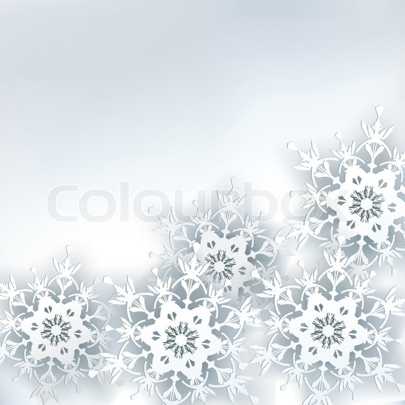 Abstract creative stylish background with 3d snowflake ...