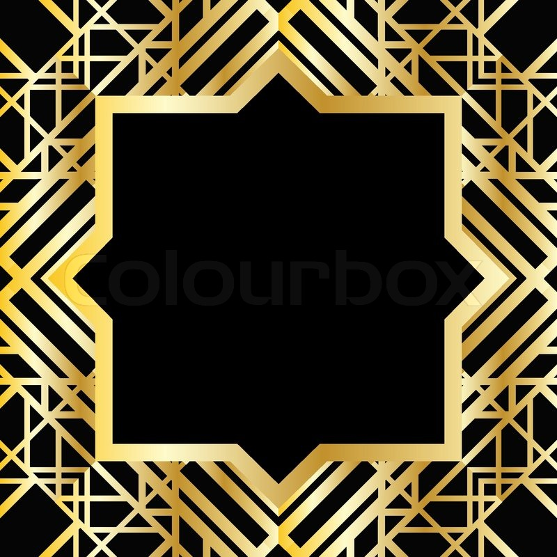 Stock vector of 'Art deco geometric frame (1920's style) Stock Vector ...