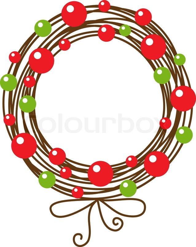 Abstract christmas wreath | Stock Vector | Colourbox