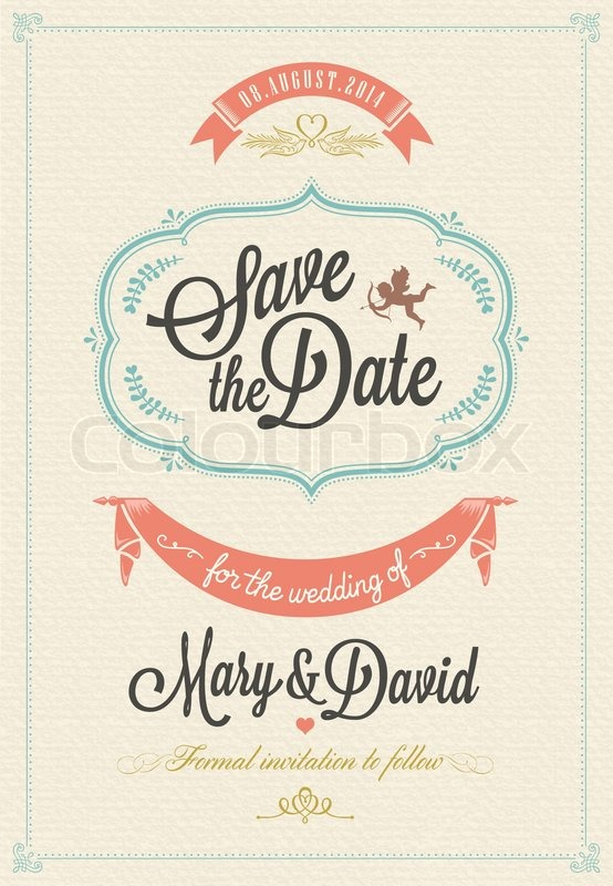Save the date wedding invitation card stock vector colourbox stopboris Choice Image