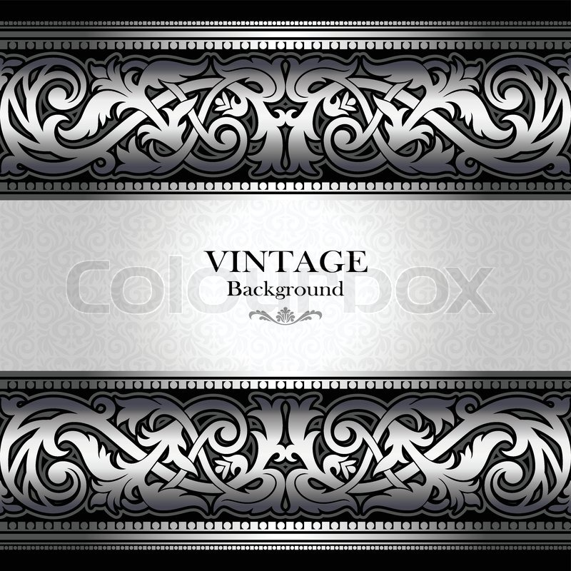 stock vector of vintage silver background antique victorian ornament baroque frame