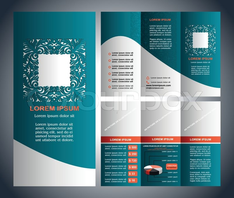 Business Brochure Layout Three Fold Flyer Template Design - Brochure template for pages