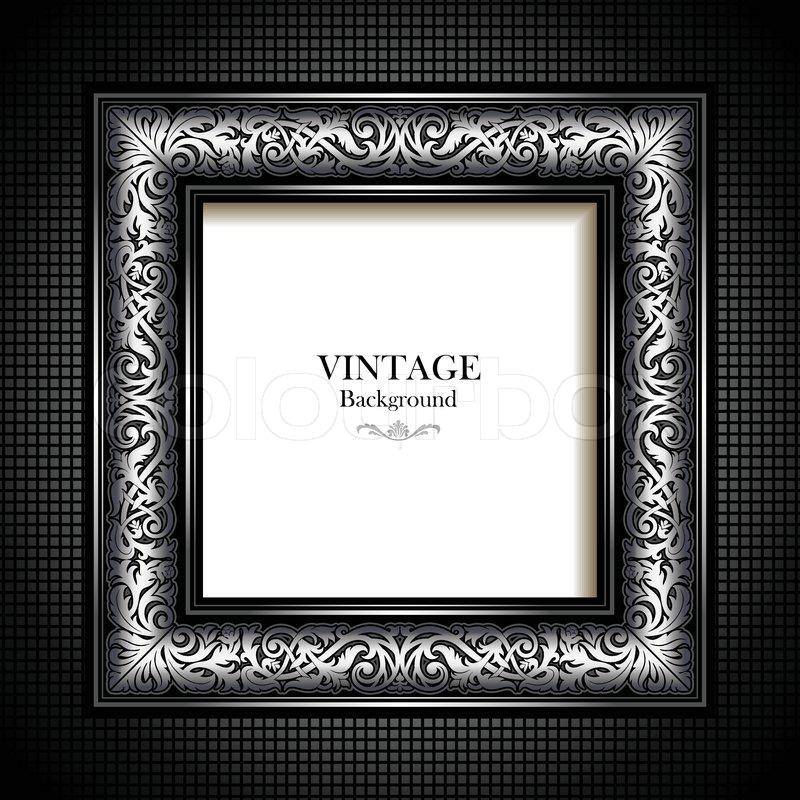 Vintage silver Hintergrund , antike, viktorianisch Ornament ...
