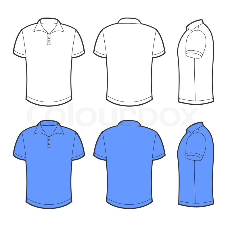 White t shirt template front