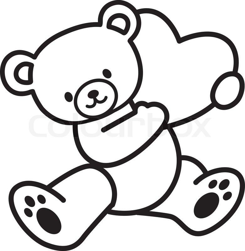 Teddy Bear With Love Stock Vector Colourbox
