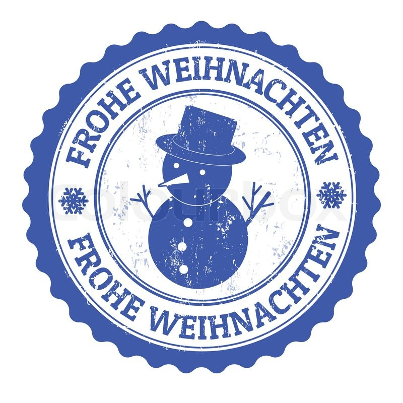 grunge rubber stamp german text frohe weihnachten translate merry christmas vector illustration stock vector colourbox