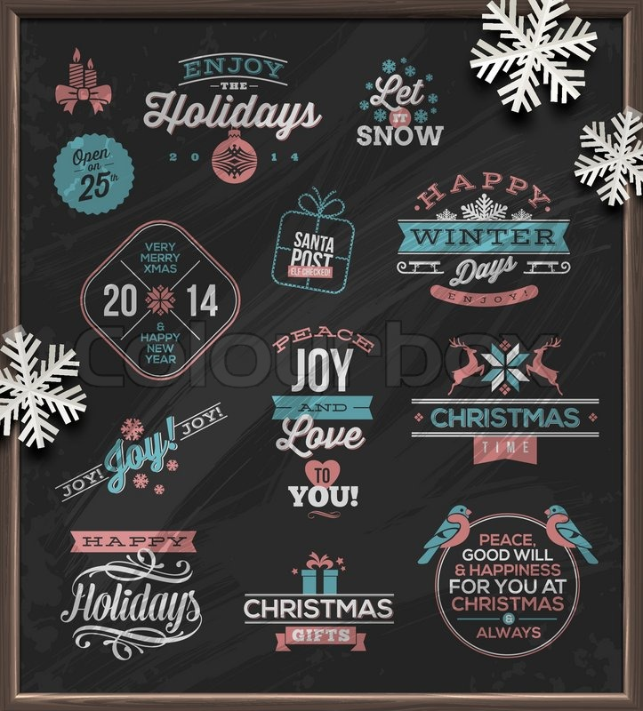 Christmas Vector Illustration Holidays Signs Emblems