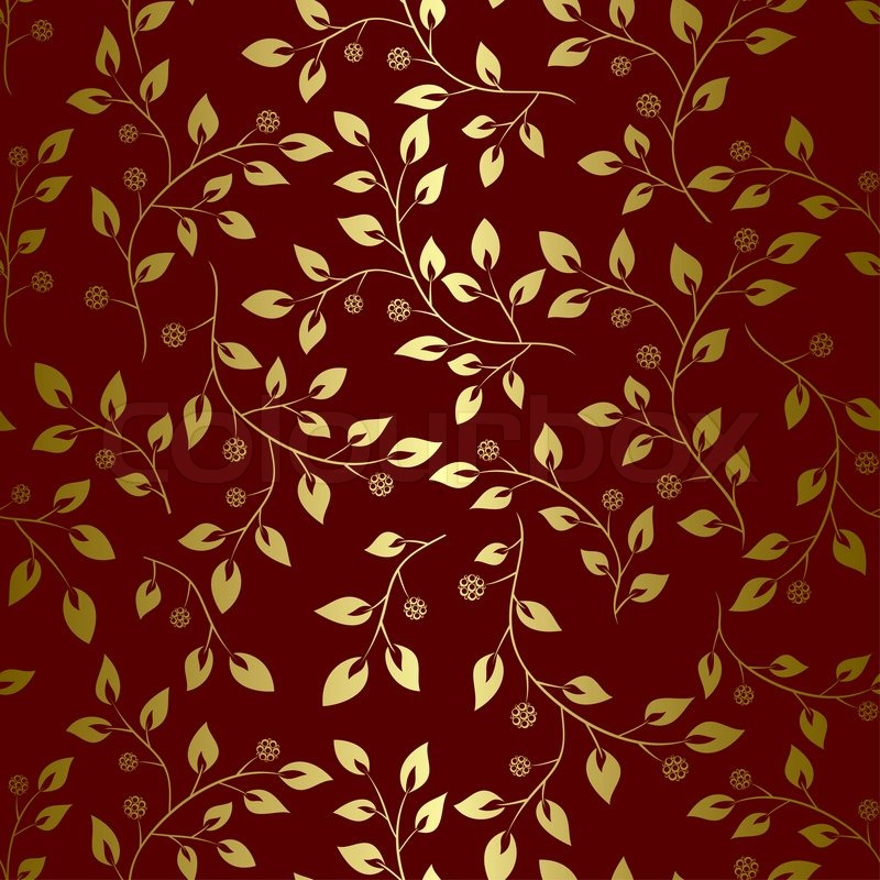 Red and gold pattern backgrounds for Red with gold