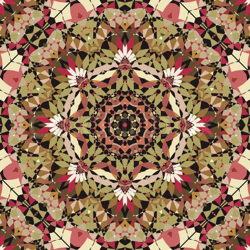 Seamless Kaleidoscope Pattern Stock Vector Colourbox Best Kaleidoscope Patterns