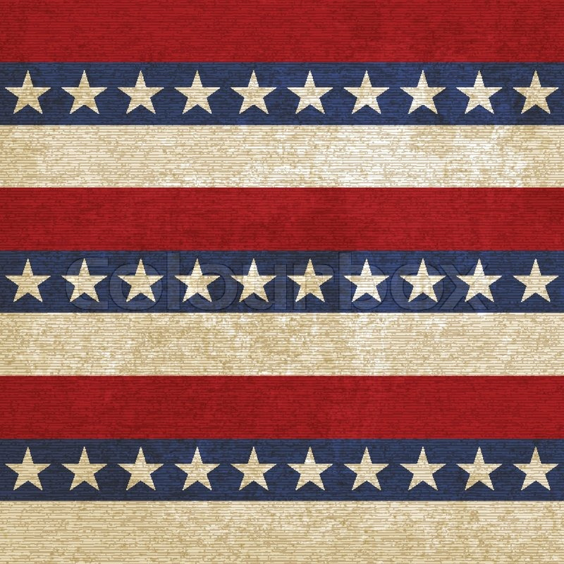 Vintage Background With Stripes And Stars Vector