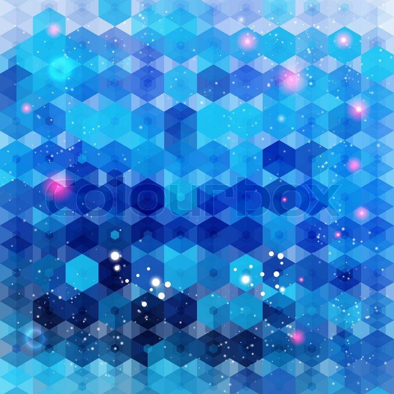 blue hexagonal pattern vector - photo #26
