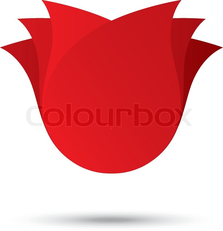 Rose Vector Logo Red r...