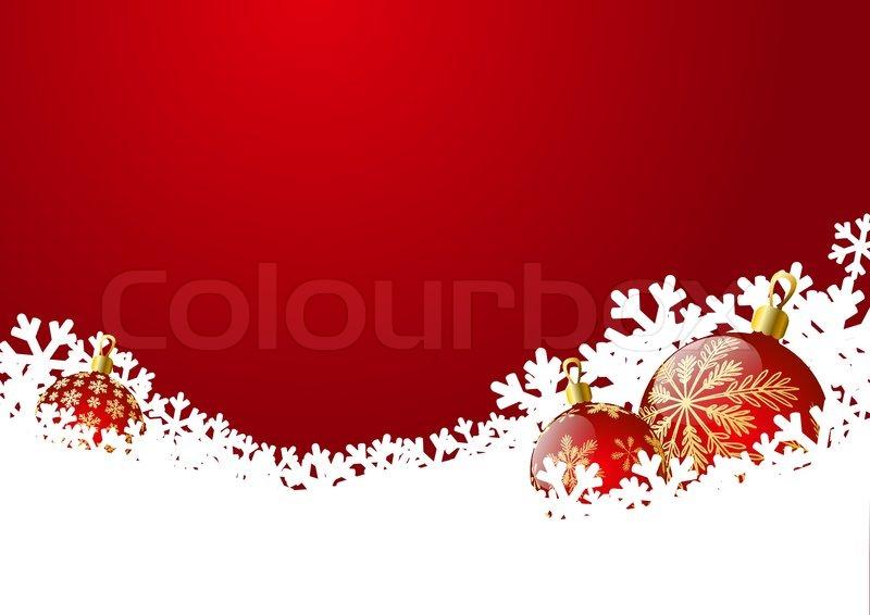 weihnachten hintergrund mit roten kugeln vektorgrafik. Black Bedroom Furniture Sets. Home Design Ideas