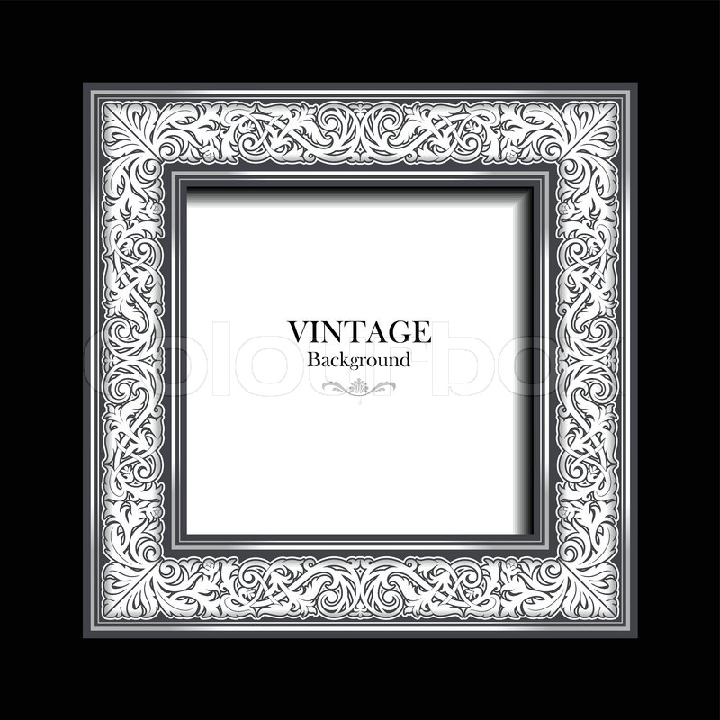 vintage white frame  antique