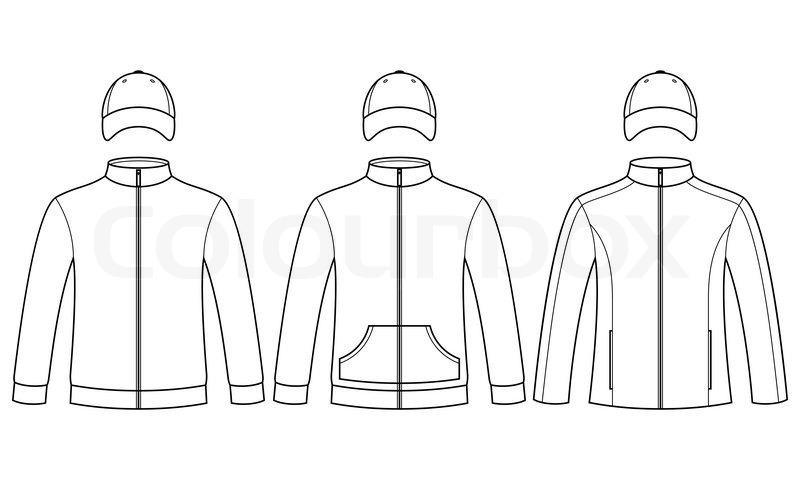 Blank caps and sweatshirts template isolated on white background blank caps and sweatshirts template isolated on white background stock vector colourbox maxwellsz