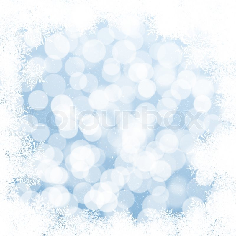 abstract blue and white christmas background with snowflakes stock photo colourbox