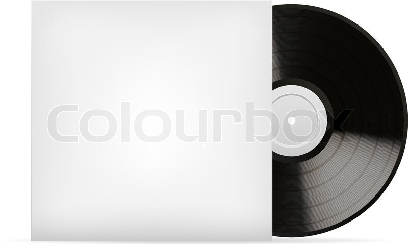 blank white vinyl cover vector template isolated on white background