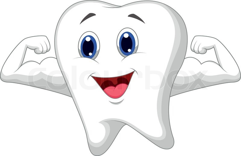 vector illustration of strong tooth cartoon stock vector Free Smile Clip Art Happy Smile Clip Art