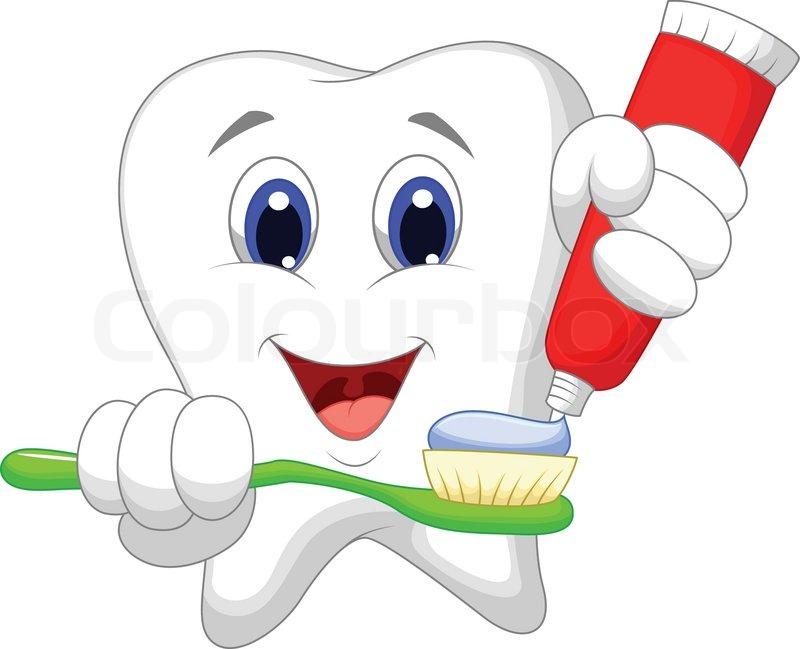 820f26610 Vector illustration of Tooth cartoon ...