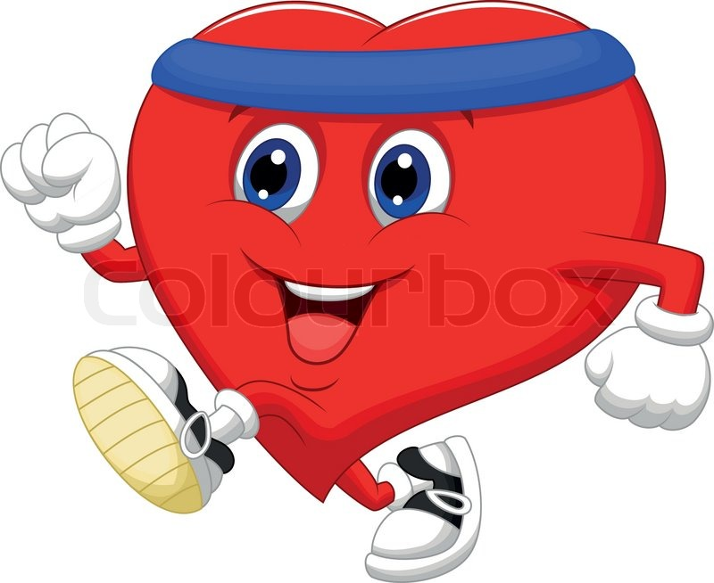 vector illustration of heart cartoon running to keep healthy stock vector colourbox human heart images clipart human heart clip art free