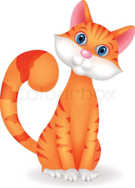 Vector Illustration Of Cat Cartoon Stock Vector Colourbox